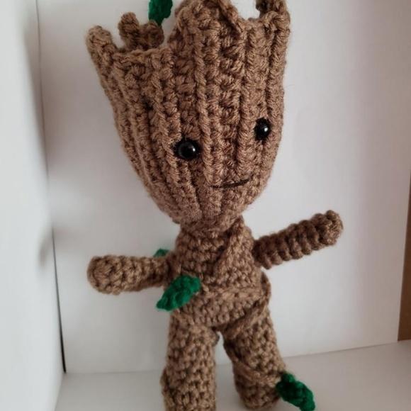 DIY PATTERN - Baby Groot (vol2) - Amigurumi Crochet Pattern ... | 580x580
